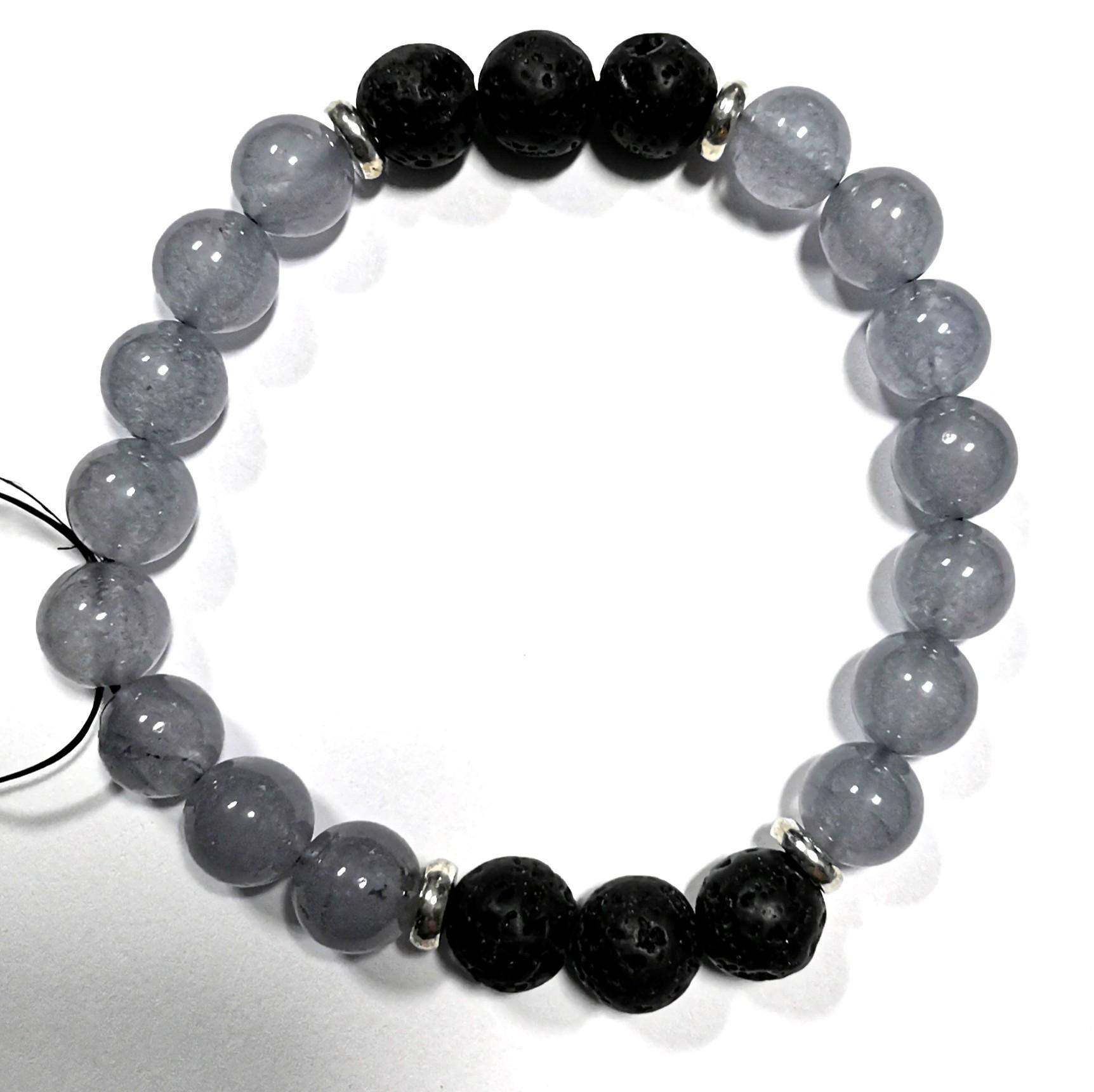 Couples Unisex Beaded Bracelet Blue and White
