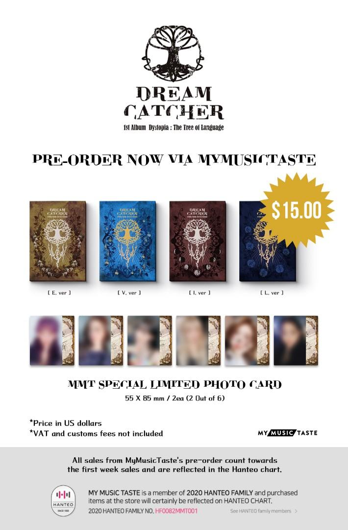INTEREST CHECK - DREAMCATCHER - DYSTOPIA: THE TREE OF LANGUAGE MYMUSIC TASTE EDITION