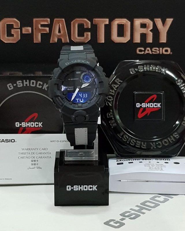 NEW🌟BLUETOOTH STEP-TRACKER : GSHOCK DIVER UNISEX SPORTS WATCH : 100% ORIGINAL AUTHENTIC CASIO BABY-G-SHOCK : GBA-800LU-1A / GBA-800-LU-1A (BLACK-SILVERFISH)