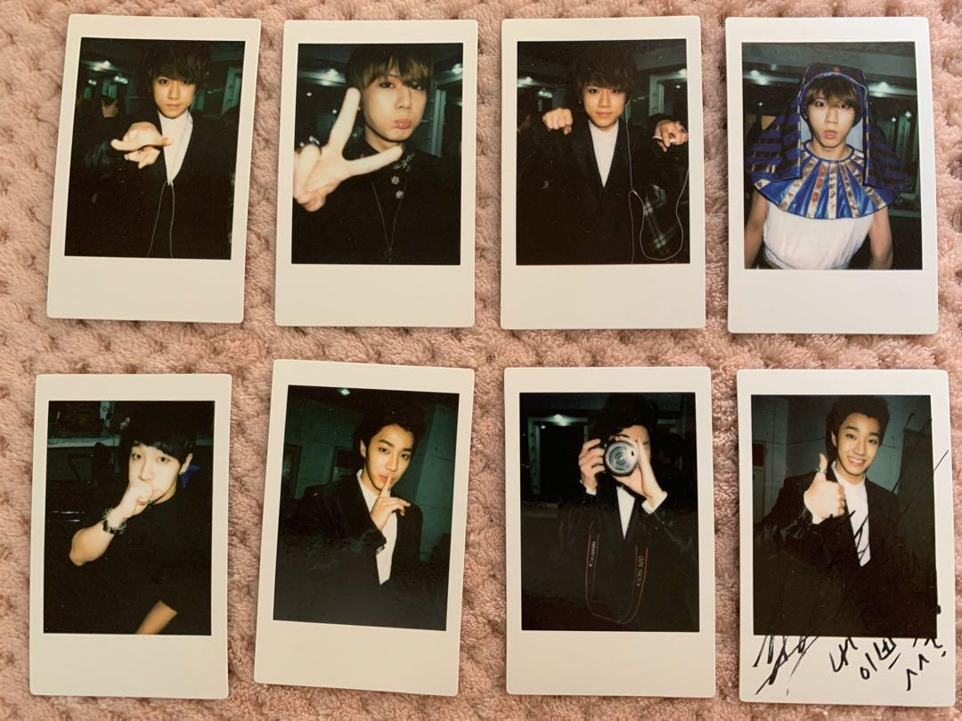 Official B2ST World Tour 'Beautiful Show' polaroids
