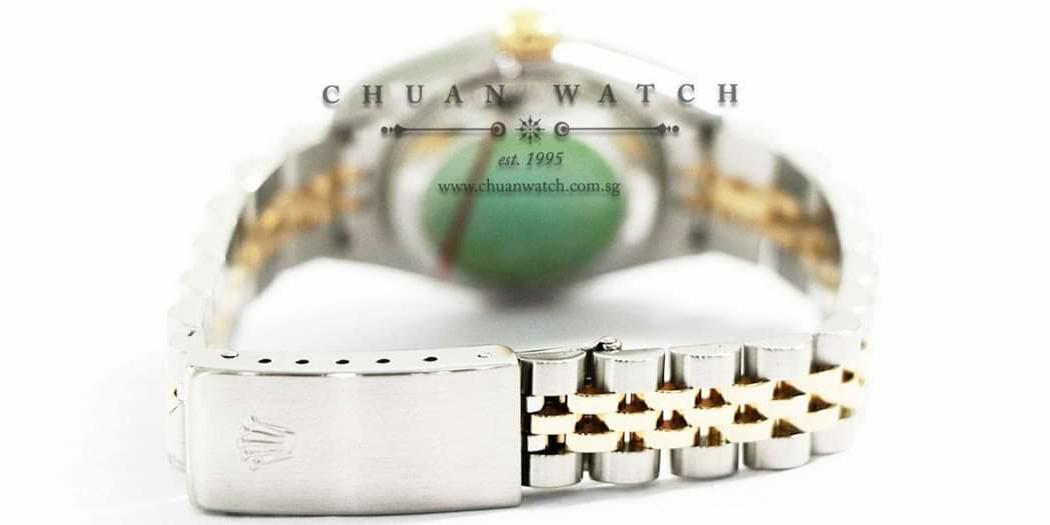 Pre-Owned Rolex Ladies' DateJust Two-Tone 26mm 79173 Champagne Sunburst Diamonds - Discontinued