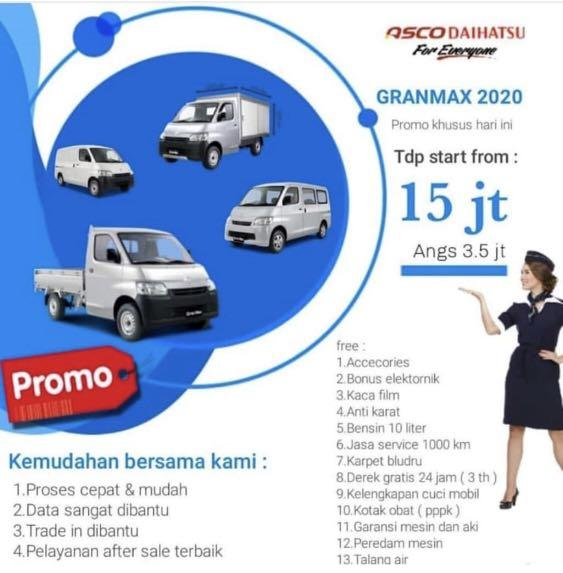 PROMO DP RINGAN Daihatsu Granmax Minibus mulai 15 jutaan