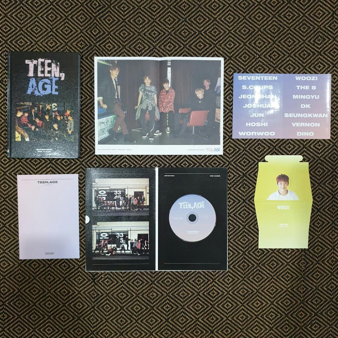 Seventeen Official 2nd Album: Teen Age Rose Quartz & Serenity Version