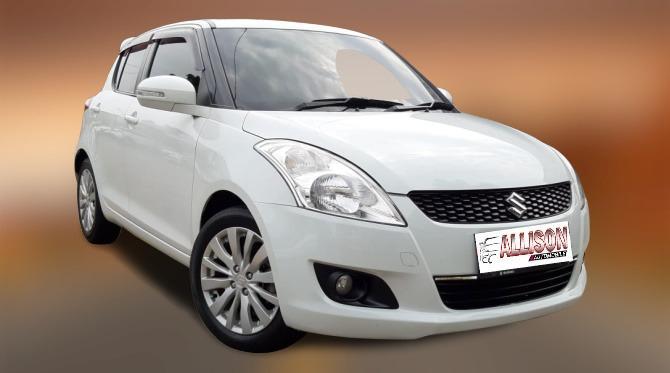 Suzuki Swift Sport CBU 1.6 Manual 2014 Putih Dp 41,9 Jt, No Pol Ganjil