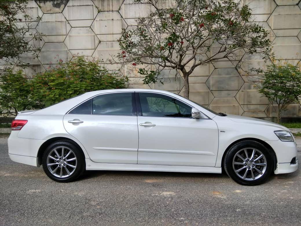 TOYOTA CAMRY 2.0 AUTO YR2011 PEARL WHITE FULL BODYKIT