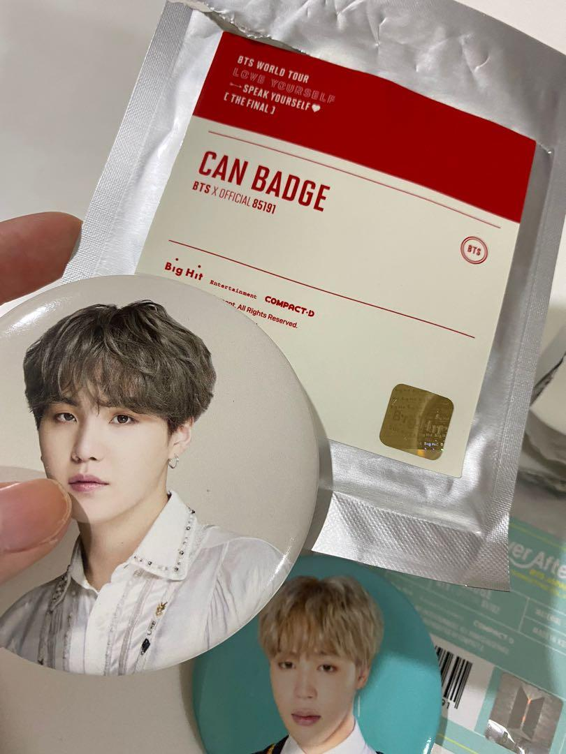 [WTS] BTS SPEAK YOURSELF FINAL SUGA 4TH MUSTER JAPAN JIMIN CAN BADGE