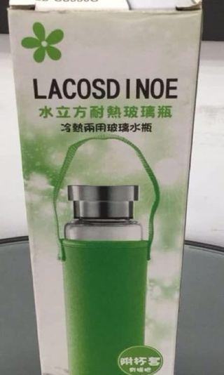 LACOSDINOE 水立方耐熱玻璃瓶 冷熱兩用玻璃水瓶