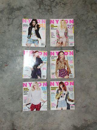 6 Nylon Magazines
