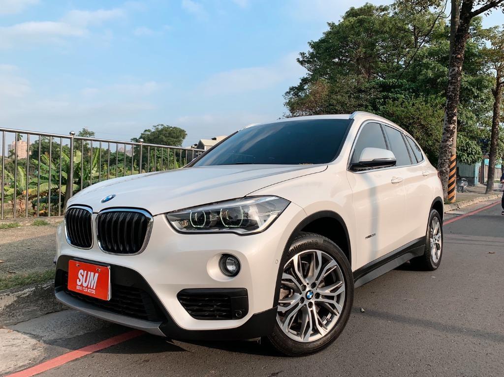 正2016年出廠 總代理 一手車 頂級 BMW X1 SDrive2.0i 運動旗艦版 珍珠白