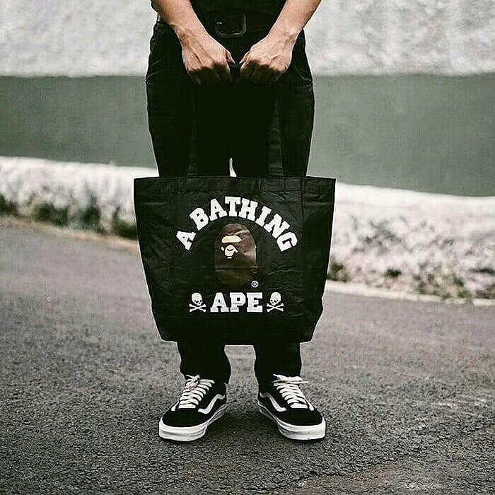 🔥 Tote Bag BATHING APE COLLABORATION MASTERMIND JAPAN ( SMART Magazine Appendix )