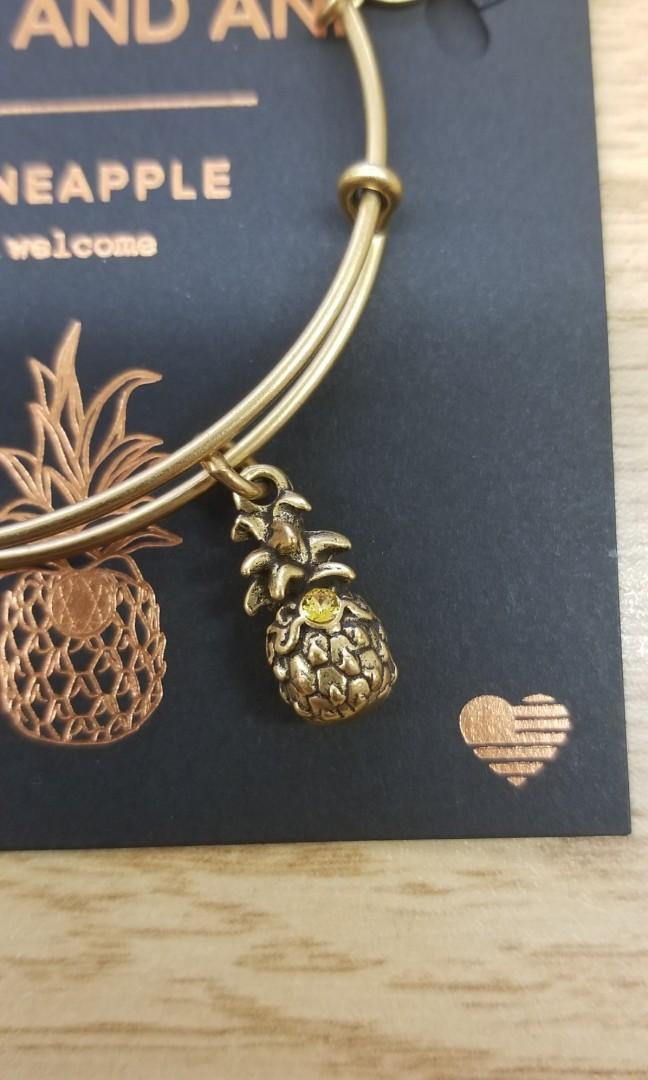 Alex and Ani pineapple bangle with Swarovski elements