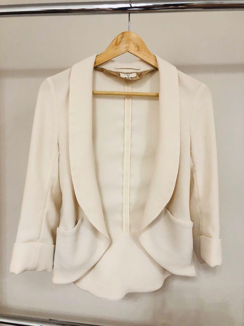 Aritzia chevalier cream white beige blazer size xs/0