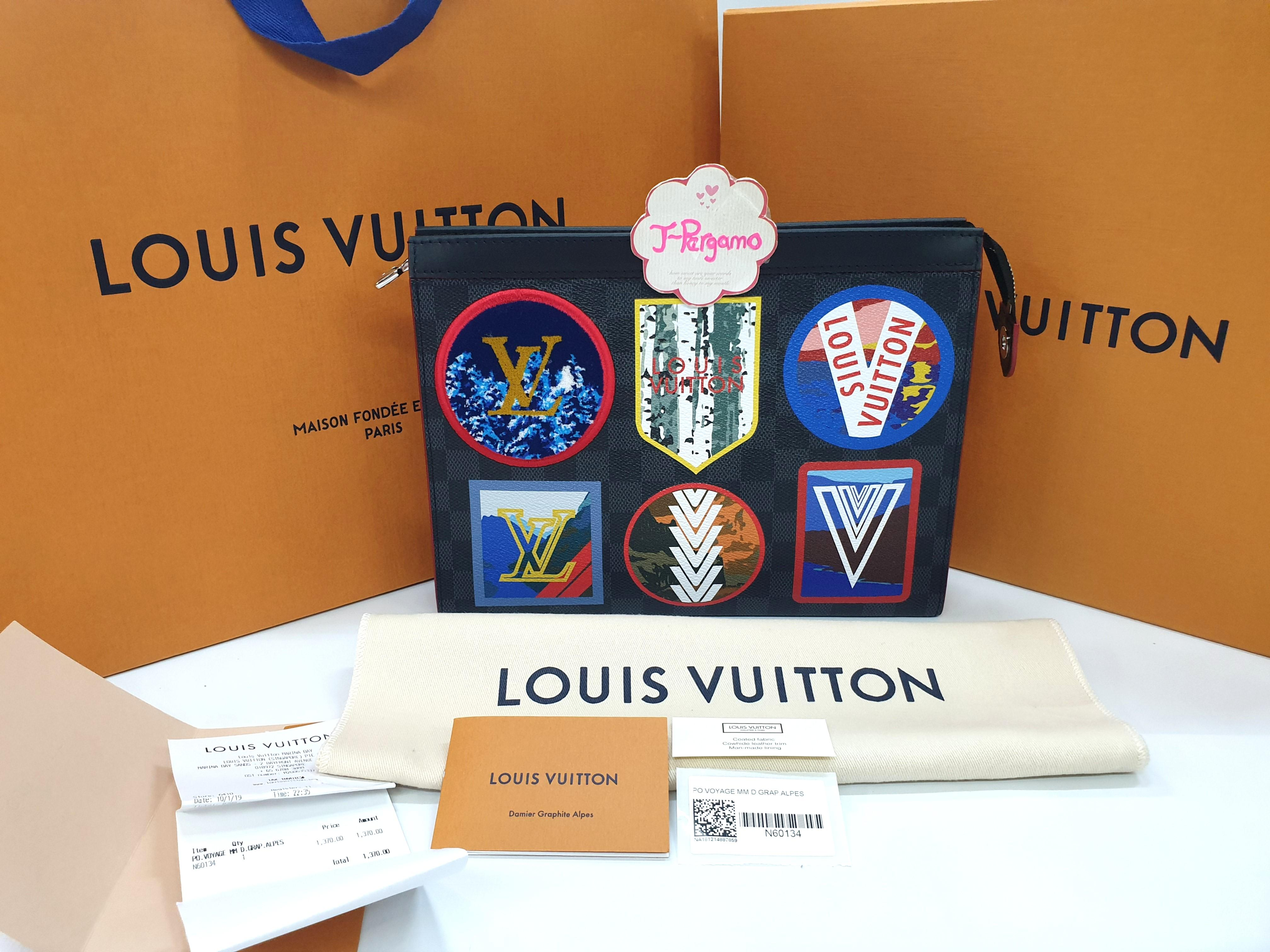 Brand New! Louis Vuitton Damier Graphite Pochette Voyage N60134 {{Only For Sale}}**No Trade**{{Fixed Price}}**定价**
