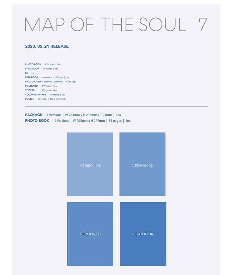 BTS - Map Of The Soul : 7 (Free Poster + Free Gift)