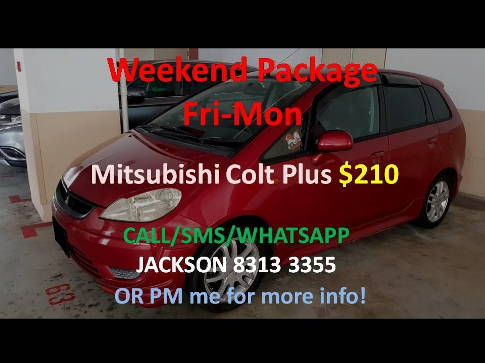 Car Rental Mitsubishi Colt Plus Weekend Fri-Mon Package 6-9 Mar P Plate Friendly ( Woodlands 11 )