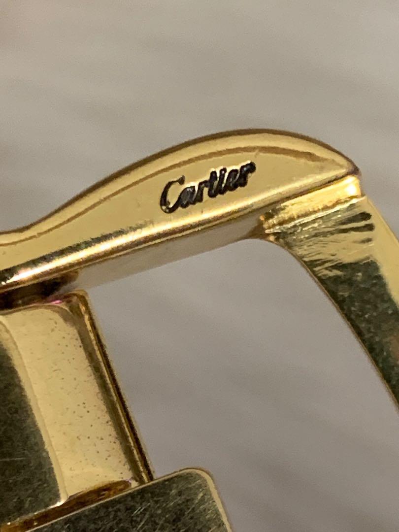 Cartier buckle authentic, gold plated, lebar belt 3 cm, kondisi mulus 90% OK, mewah langka