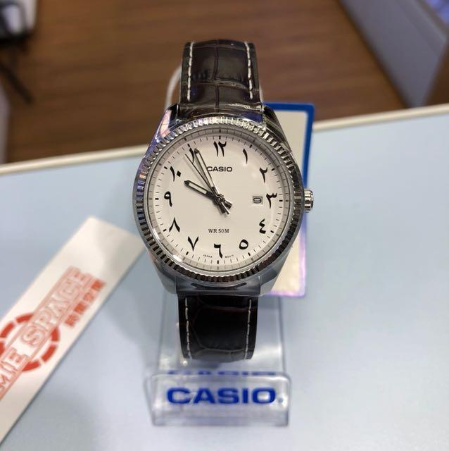 Casio LTP-1302L-7B3V Women Analog Arab Number Date Functioning White Dial Black Leather Band Original Casual Watch LTP-1302L