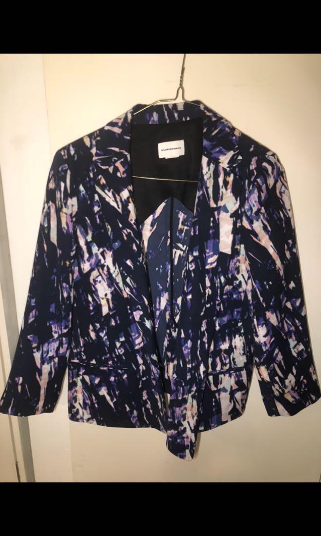 "Club Monaco ""the Naomi"" women's printed blazer size 6"