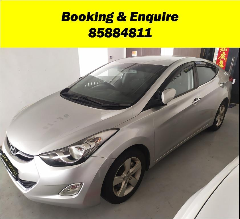 Hyundai Elantra LOWERED RATES w FEB SPECIAL PROMO! Cheapest rental in town with just $500 Deposit driveoff immediately. Whatsapp 85884811 now to reserve!