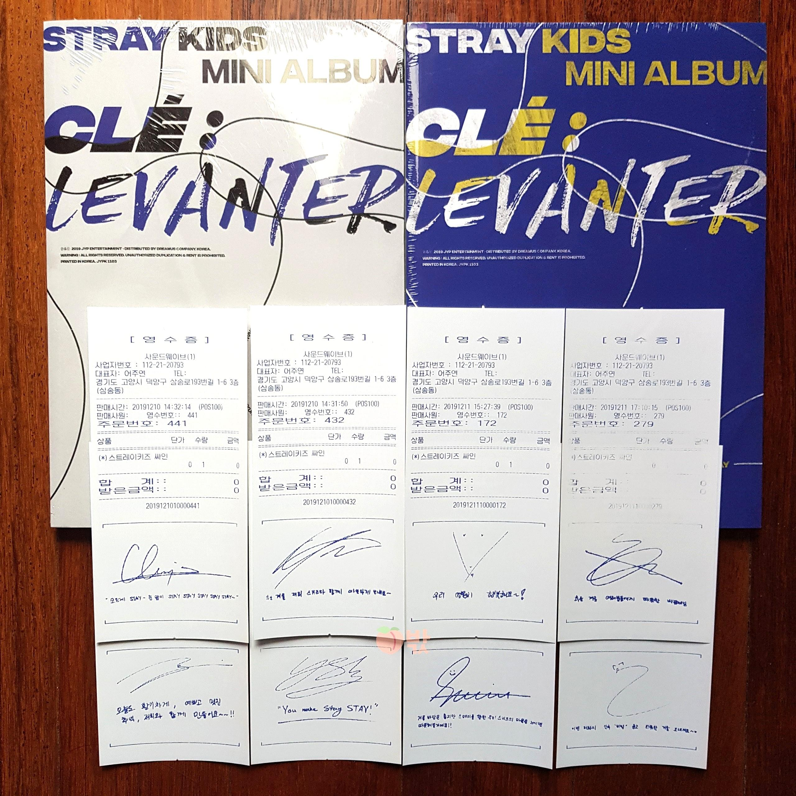 [Ready Stock] Stray Kids Levanter (2 Sealed Albums + 1 Free Signed Receipt)