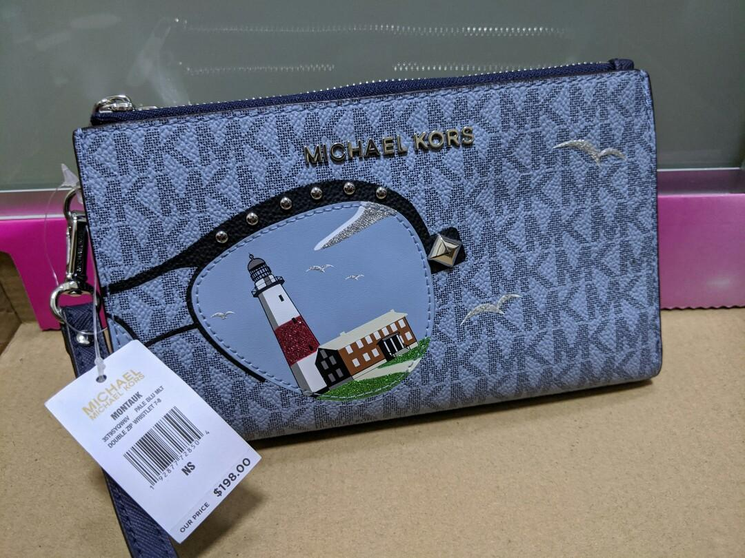 LIMITED EDITION SUMMER COLLECTION 2019 Michael Kors double zip wristlet