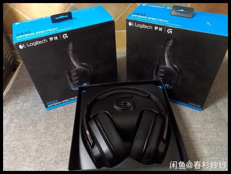 New Logitech G633 RGB 7.1 Surround Sound Gaming Headset Microphone Computer