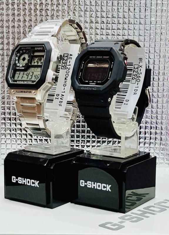 NEW🌟COUPLE💝SET : CASIO🌟BABYG DIVER UNISEX SPORTS WATCH  : 100% ORIGINAL AUTHENTIC CASIO BABY-G-SHOCK ( GSHOCK ) : BLX-560-1 + AE-1200WHD-1AV
