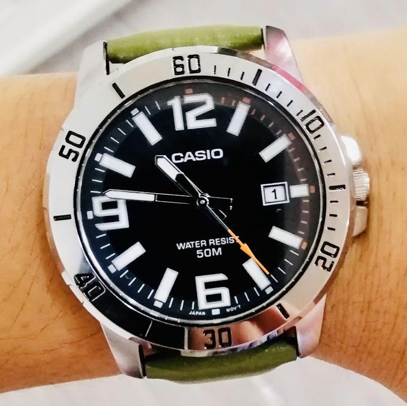 NEW🌟TOUGH CASIO UNISEX DIVER SPORTS WATCH : 100% ORIGINAL AUTHENTIC : By BABY-G-SHOCK ( GSHOCK ) Company : MTP-VD01L-3BVUDF / MTD SEIKO theme (MILITARY RAINFOREST)