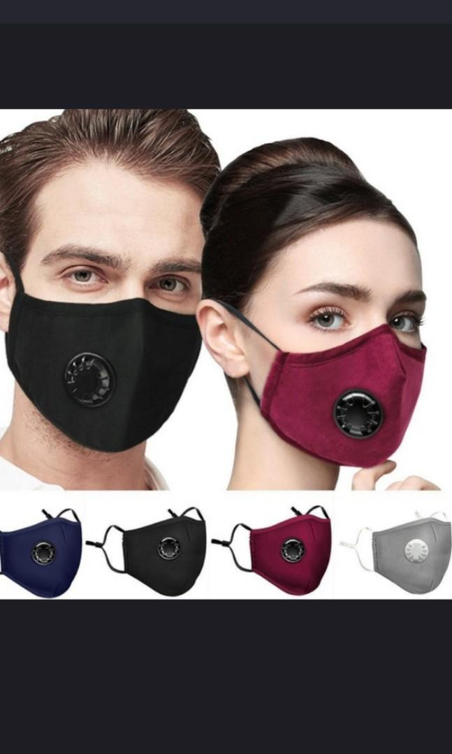 Anti air pollution face mask.  N95. Anti fog PM2. 5. In  black/gray/navy blue/red/pink