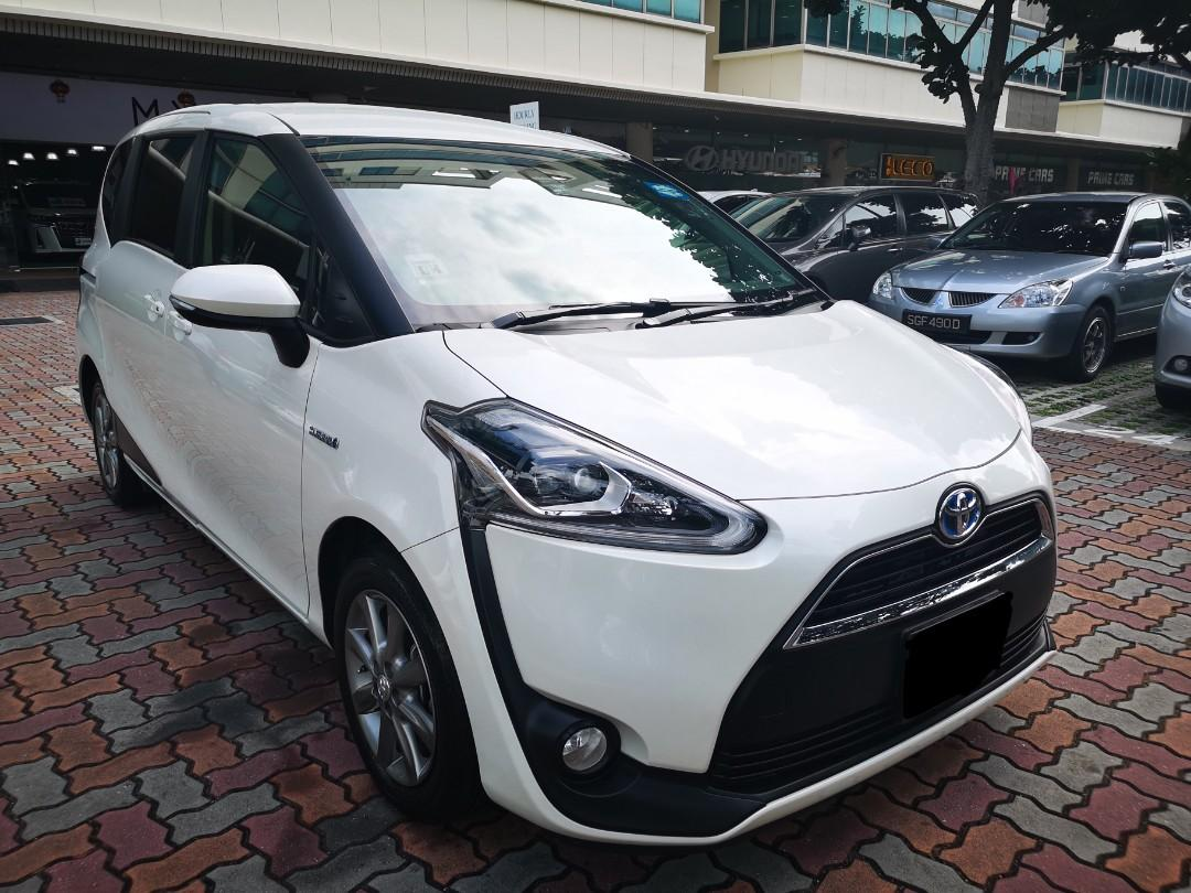 "Toyota Sienta Hybrid 1.5X for Rental (Click on ""read more"" for more details)"