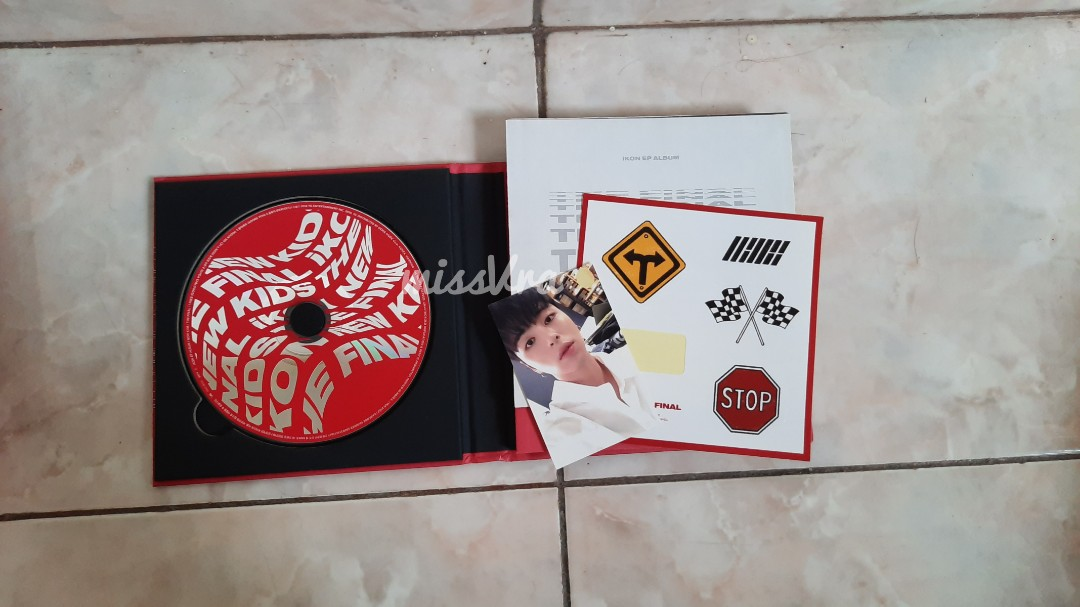 UNSEALED ALBUM IKON NEW KIDS THE FINAL RED JUNHOE PHOTOCARD
