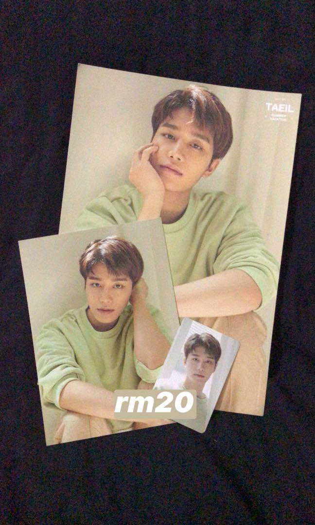 [WTS] NCT 127 Summer Kit Taeil A4 poster with Withdrama POB PC