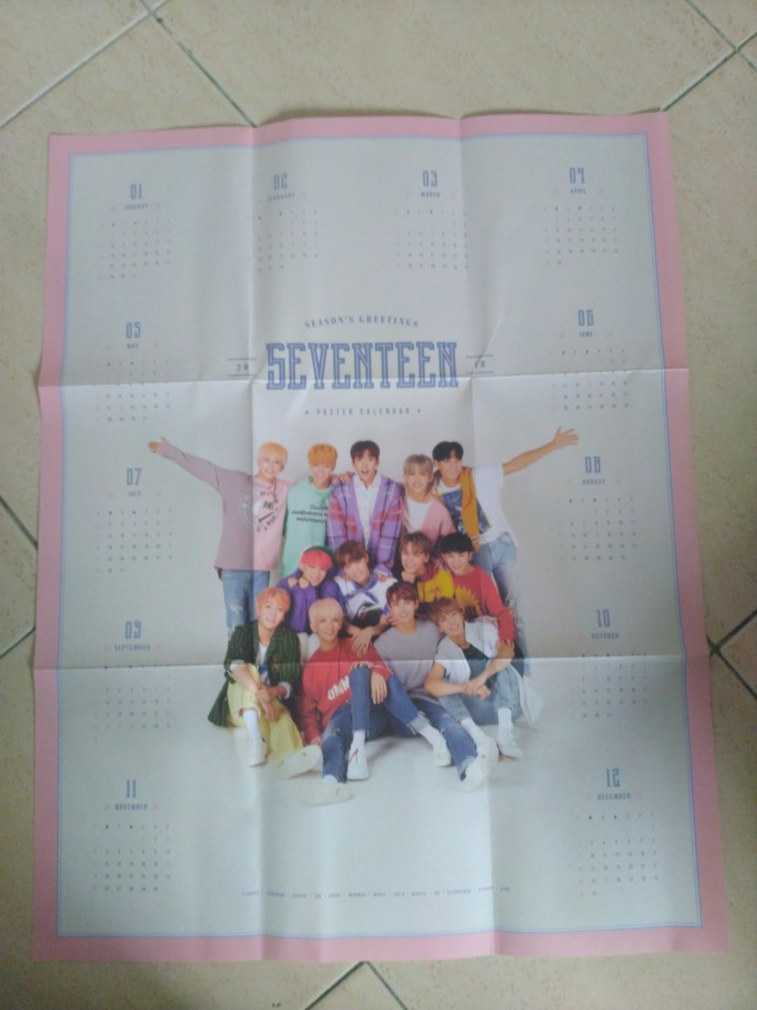 [WTS] Seventeen 2018 Season Greetings Poster Calendar
