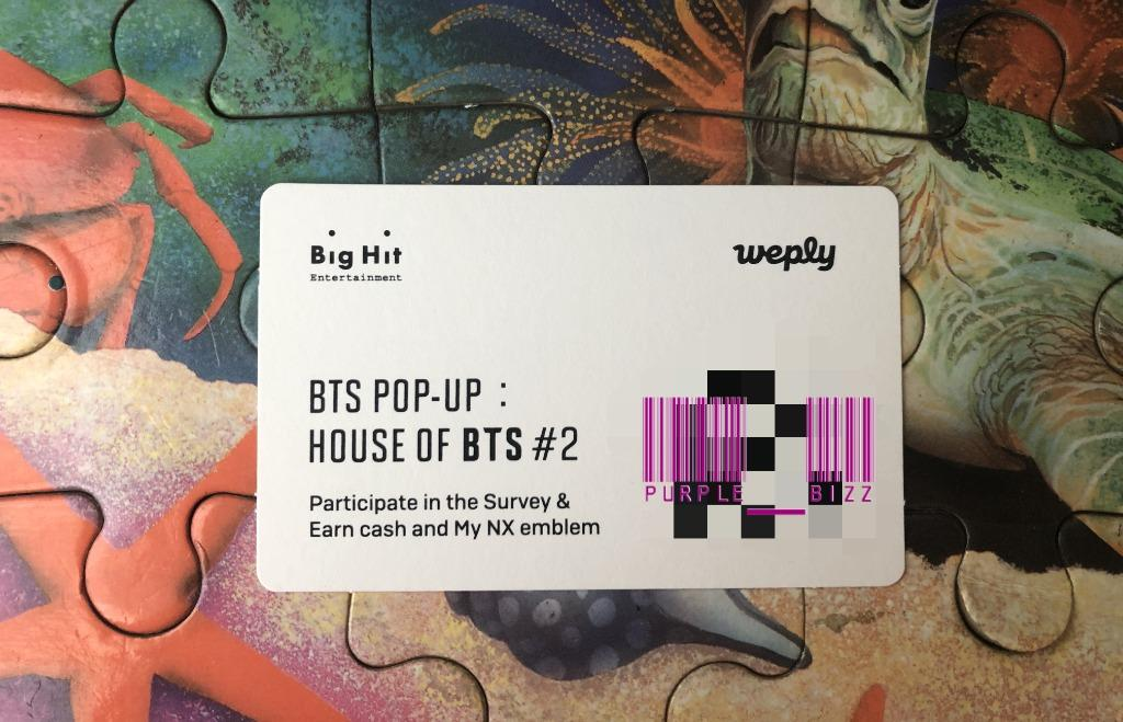 [WTS] Ver. 2 QR code [NEW & Unscan] - House of BTS Pop-Up store in Seoul