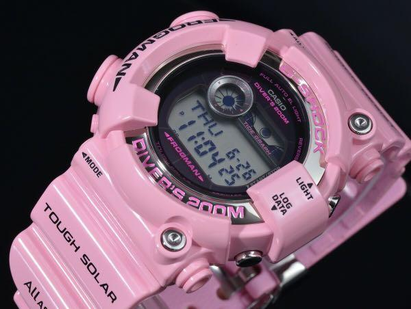 100% Authentic new Japan JDM Casio G-Shock ICERC dolphin whale Pink Frogman GF-8250K-4JR Watch very rare limited edition