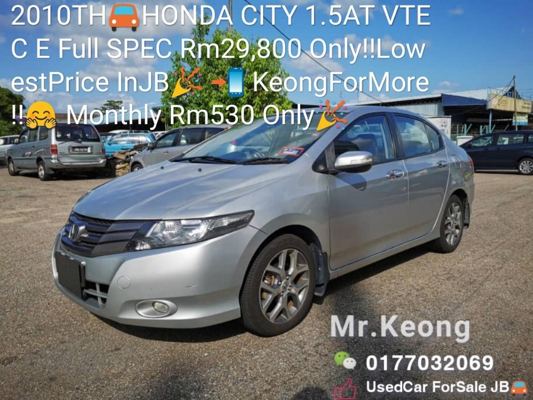 2010TH🚘HONDA CITY 1.5AT VTEC E Full SPEC Rm29,800 Only‼LowestPrice InJB🎉 📲 KeongForMore‼🤗 Monthly Rm530 Only🎉