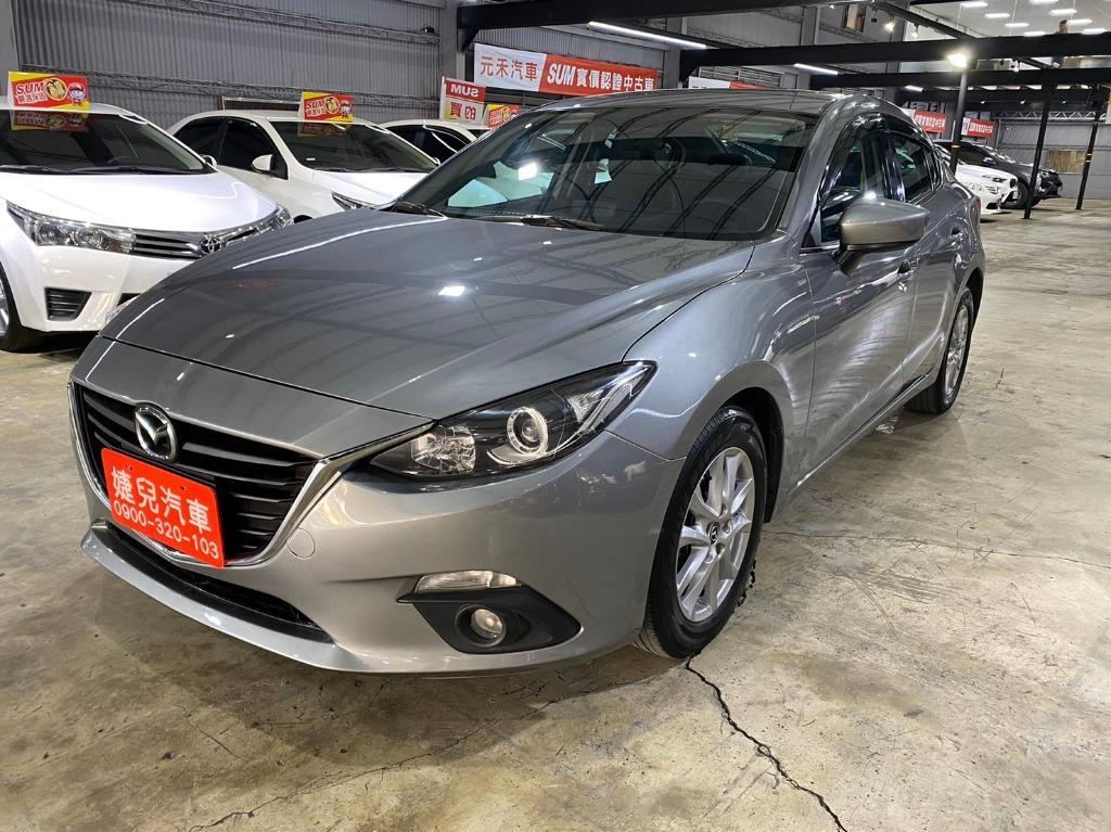 正2016年 新款魂動Mazda3 2.0S尊榮型頂級免鑰匙版.新車價80萬