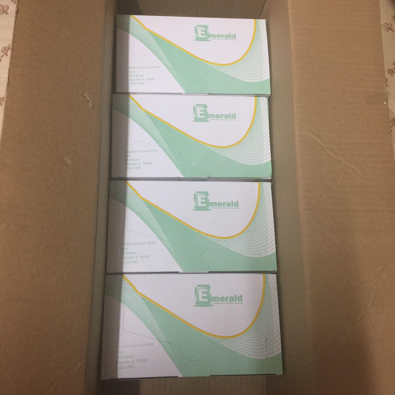「現貨」 美國 Emerald 藍色三層外科口罩 一盒50個 Surgical Procedure face mask Medical masks 對抗武漢肺炎 #PM5BL - Box of 50