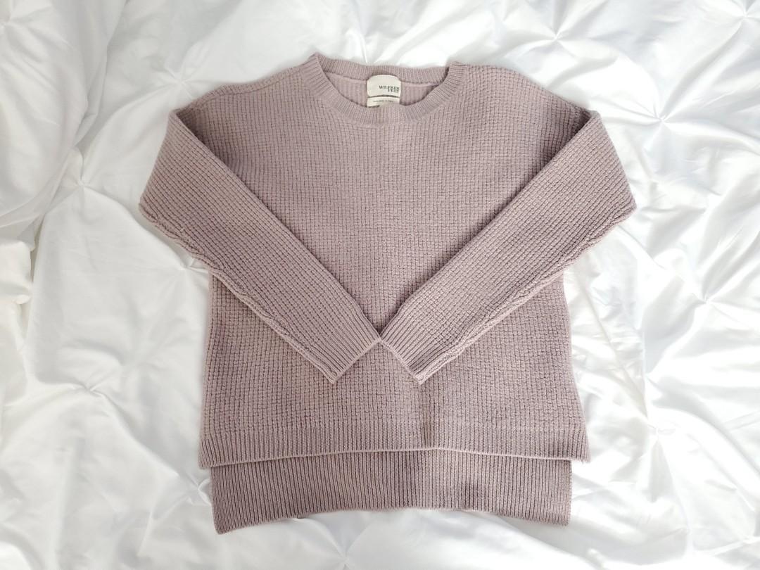 Aritzia Wilfred Free Italian Wool Purple Sweater - Small