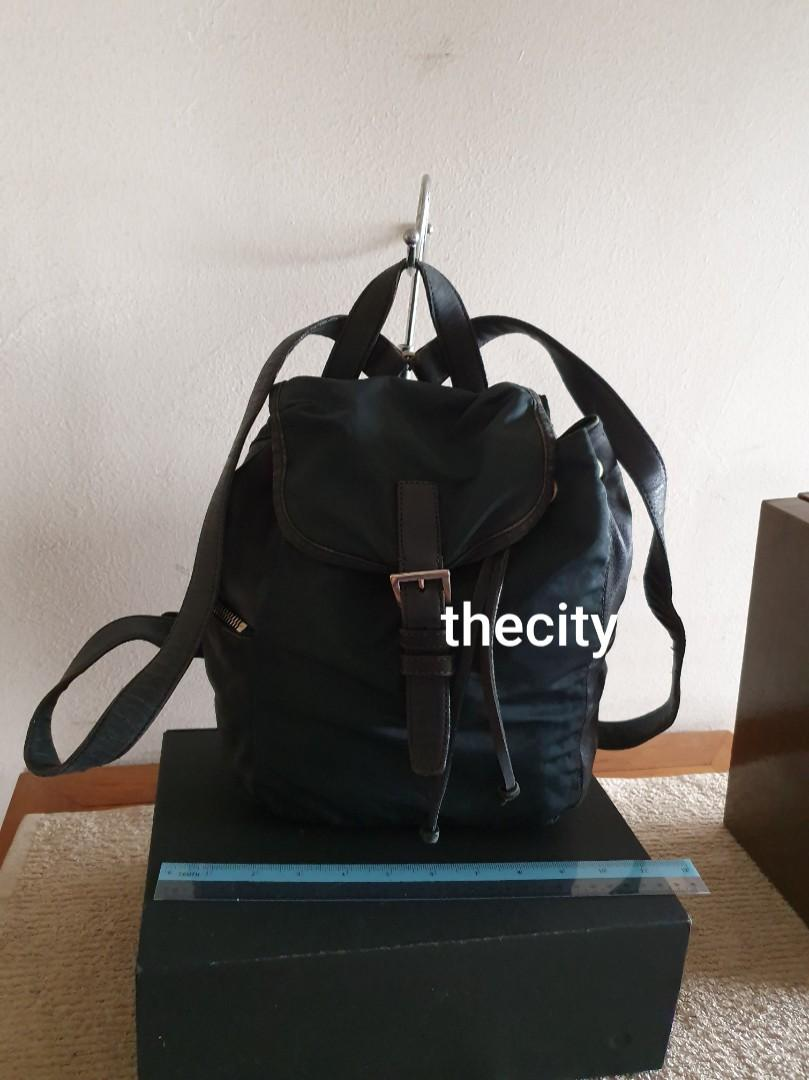 AUTHENTIC PRADA NYLON CANVAS & LEATHER BACKPACK - CLEAN INTERIOR - VINTAGE PRADA, SO NOT FOR FUSSY BUYERS - (PRADA BACKPACKS NOW RETAIL OVER 5000+)