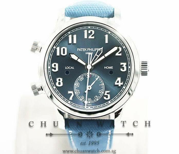 Brand New Patek Philippe Ladies' Calatrava Pilot Travel Time 37.5mm 7234A-001  (Limited Singapore Edition of 400 Pieces Only)