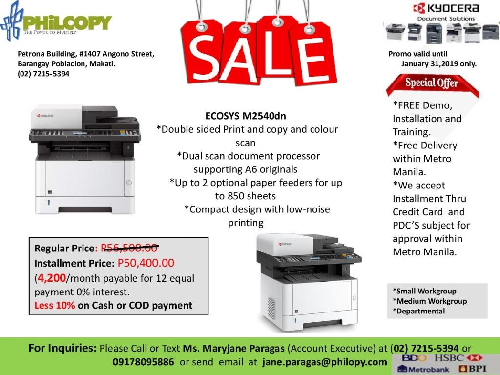 Brandnew Kyocera Copier or Xerox with Additional Discount