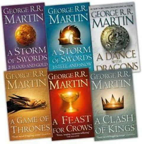 Game of Thrones by George R. R. Martin (Originally titled as A Song of Ice and Fire)
