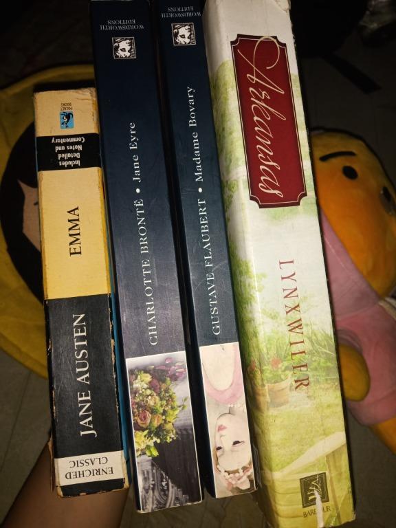 Jane Eyre (Charlotte Bronte) Madame Bovary (Gustave Flaubert) Emma (Jane Austen) Arkansas ((Christine Lynxwiler)