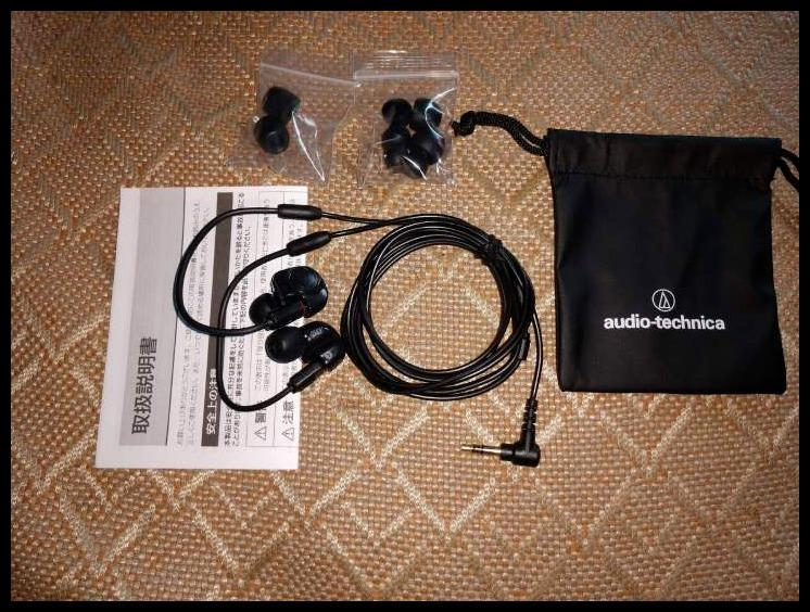 Original authentic Audio-Technica ATH-IM50 in-ear double moving coil wired wire-wound HIF