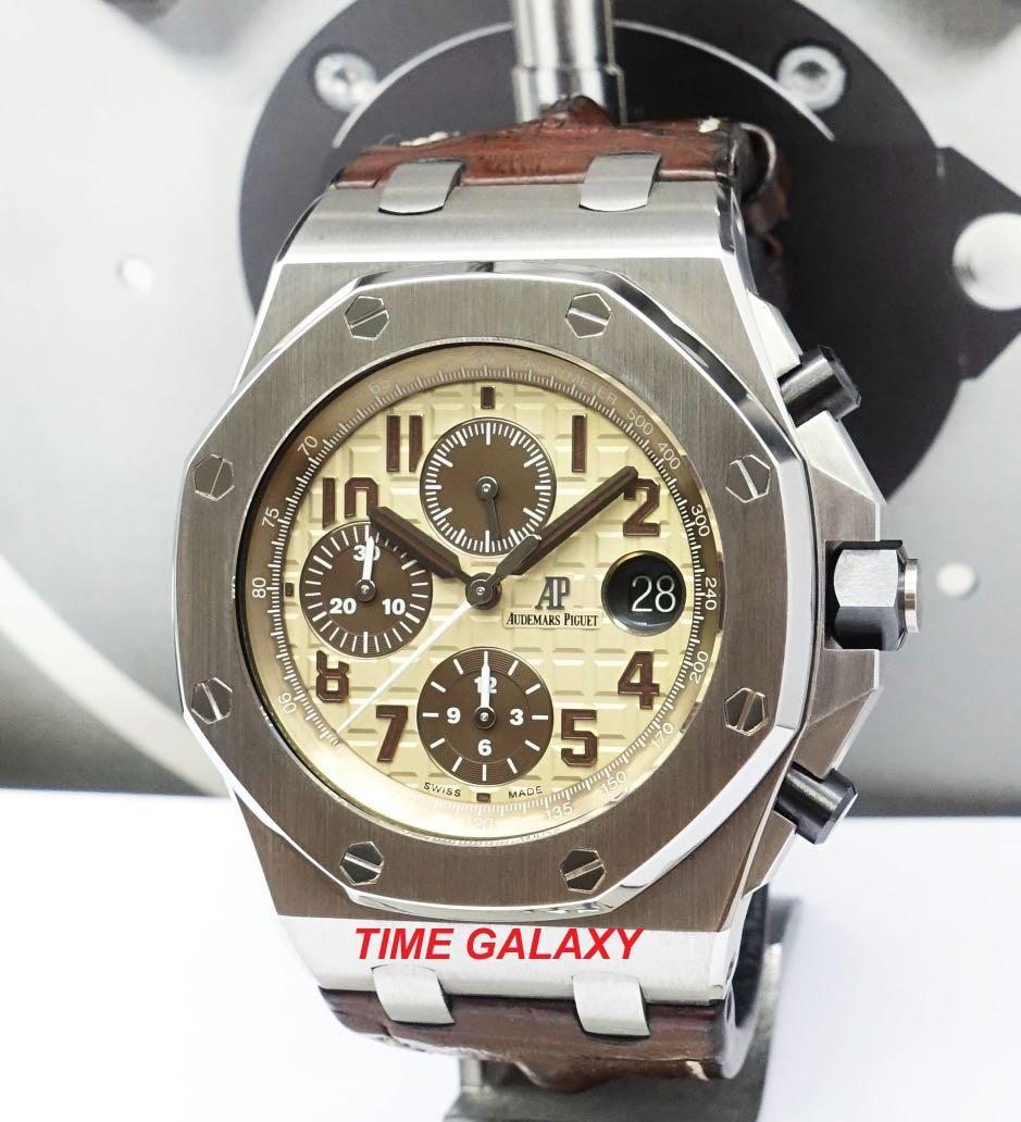 "Preowned AUDEMARS PIGUET Royal Oak Offshore 42mm Auto Chrono ""SAFARI"" Stainless Steel mens Watch. Model 26470ST.OO.A801CR. Swiss made"