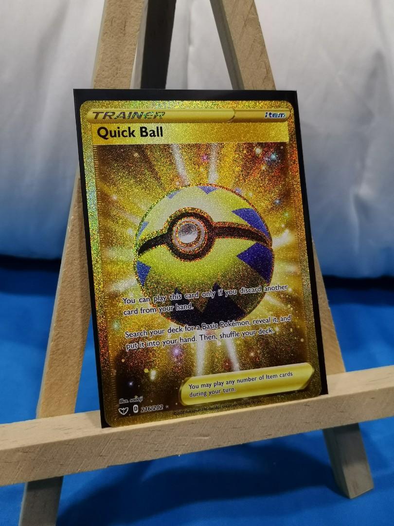 MINT QUICK BALL GOLD SECRET RARE SWORD /& SHIELD BASE SET ENGLISH