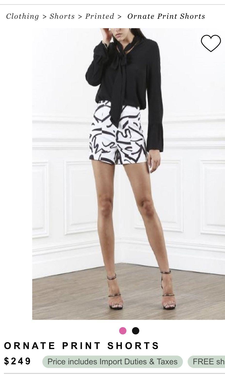 Shilla the Label Designer 2PCS Print Cami and Shorts Set XS Black & White Bundle