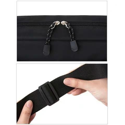 Studio Clip 黑色 日本附錄 簡約休閒防水大容量休閒單肩包 斜挎袋