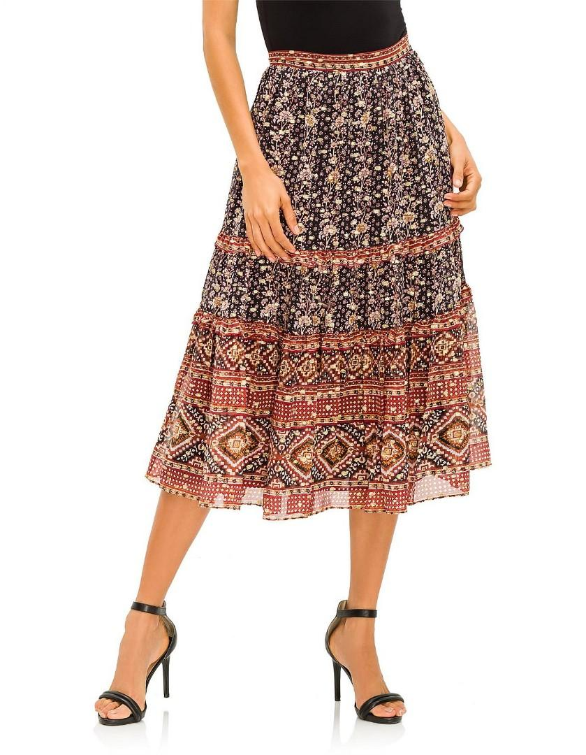 Ulla Johnson Thea Skirt Indian floral, size AU 6/8